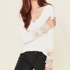 Free People kombucha thermal long sleeve sz medium